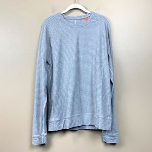 Lululemon gray striped crewneck sweatshirt 10